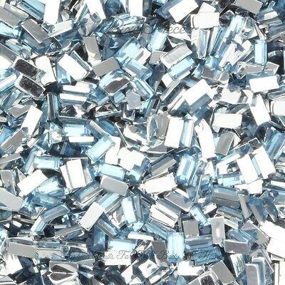 Rectangle Shaped Rhinestone Gem Flatback Acrylic Crystals Nail Art Craft Jewels
