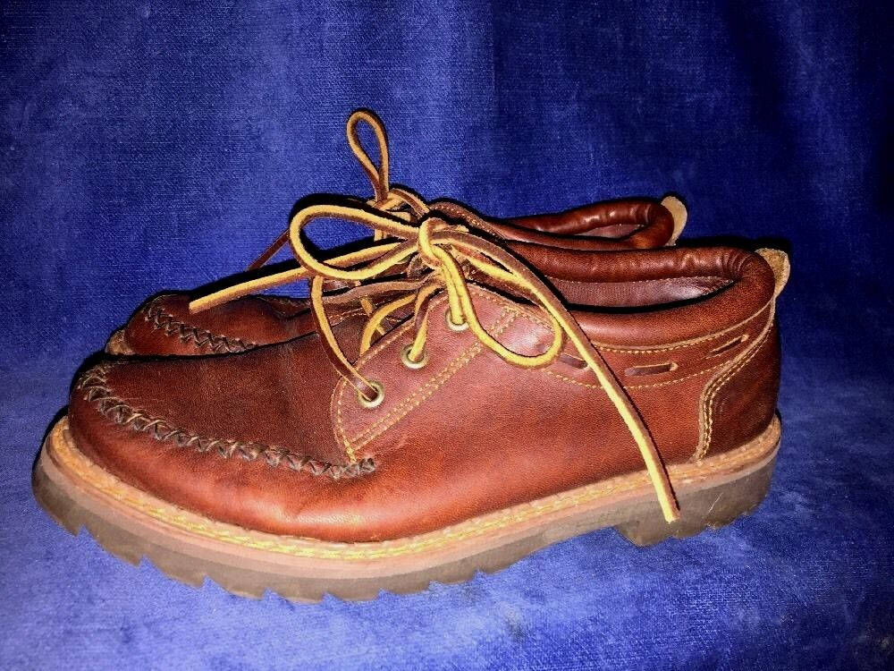 G H BASS CO Leather Ankle Rawhide Lace Cowboy Womens CHUKKA BOOTS shoes Sz 7.5