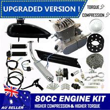 Upgraded 2 stroke 80cc Motorized Bicycle Motor Engine Kit Motorised Push Bike AU