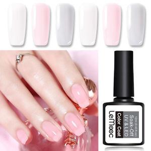 LEMOOC-12ml-Nagel-Gellack-Jelly-Base-Top-Coat-Soak-Off-Nail-Art-UV-Gel-Polish