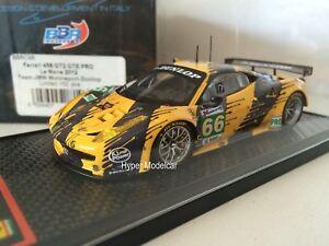 Modèles Bbr 1/43 Ferrari 458 Gt2 Gte Pro # 66 24h Le Mans 2012 Art.bbrc98