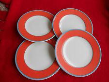 VILLEROY & BOCH TIPO VIVA RED ORANGE BREAD AND BUTTER/DESSERT PLATES – SET OF 4