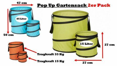 Meistercraft Meister 2er Pack Gartensack Pop Up Gartenabfallsack Springsack