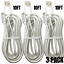 miniature 12 - 10FT Braided Micro USB Charger Cable Data Sync Charger Cord Android Samsung LG