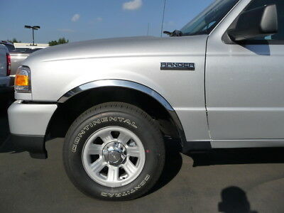 1993-2010 Ford Ranger 2WD Polished Stainless Steel Chrome Fender Trim