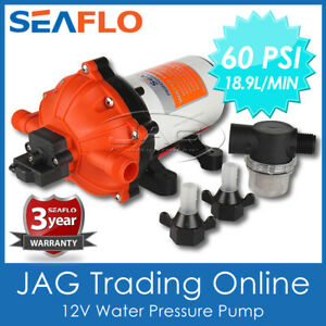 SEAFLO 5-CHAMBER 12V 18.9LPM WATER PRESSURE PUMP 5GPM 60 PSI-Caravan/Boat/Marine