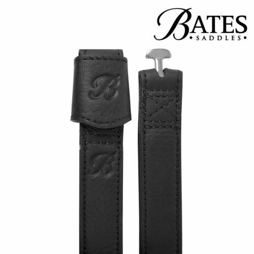 Bates LEATHER WEBBERS Stirrup Leathers No Stretch Slim Line Brown Black Havana