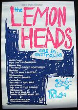 The LEMONHEADS Australia 1996 Promo Only Tour POSTER Evan Dando MINTY!