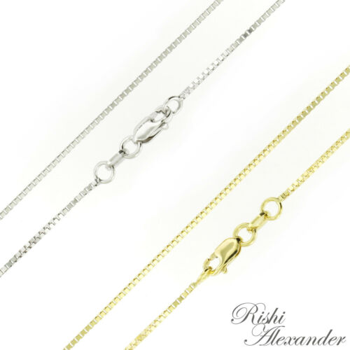 10K Gold BOX Chain Necklace Italian Made Stamped 10KT All Sizes