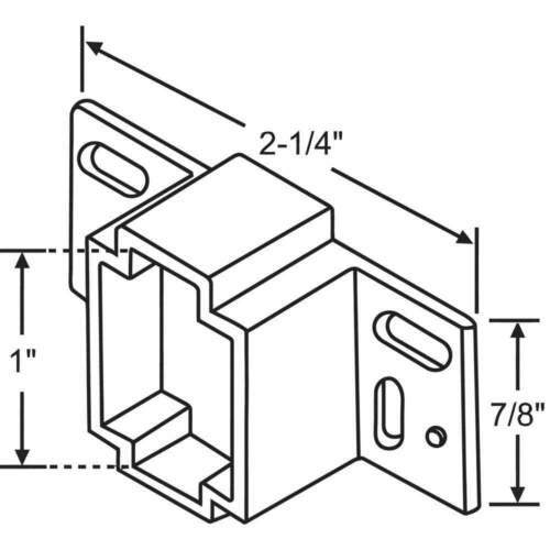 "GRAINGER APPROVED 45-16 Drawer Track Bracket,1//4/"" H"
