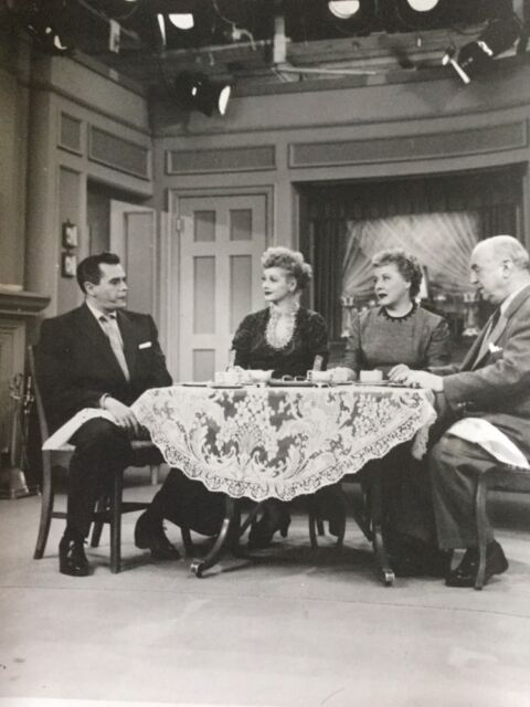 """Cast """"I Love Lucy"""" 1950's Television Comedy 8 x 10 Black/White Photograph #1434"""