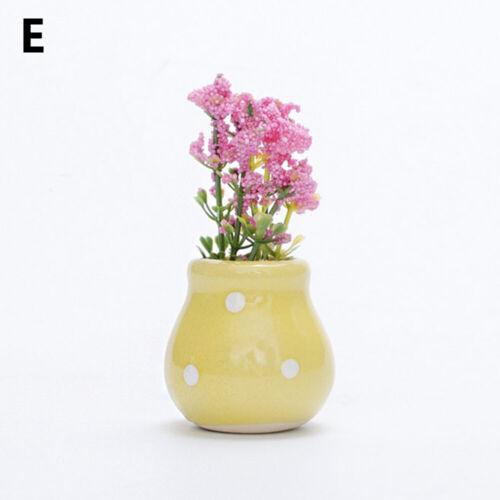 Home Decor Flower Cup Artificial Bonsai Flowerpot Figurine Miniatures Potted