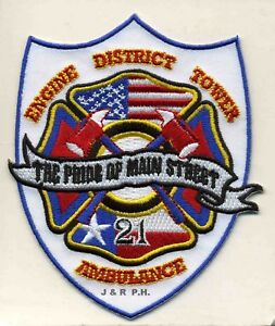 """Texas 3.5/"""" x 4.5/"""" size 21 /""""Pride S Main/"""" fire patch Houston Station"""