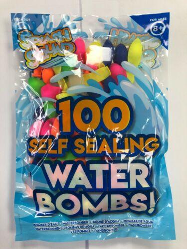100 SUPER SELF SEALING WATER BOMBS BALLOONS GARDEN SUMMER FUN FILLING NOZZLE