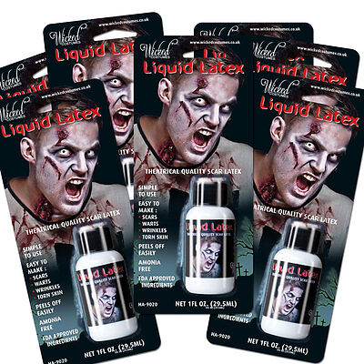 Amabile Latex Liquido Zombie Pelle Halloween Make Up Accessorio Vestito