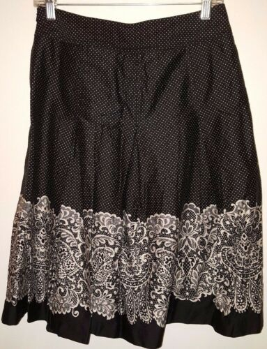 Floral Lace crema Womens 2 Nero Polka Dot Nwot Talbots Gonna Look Taglia x5q0wYC7T
