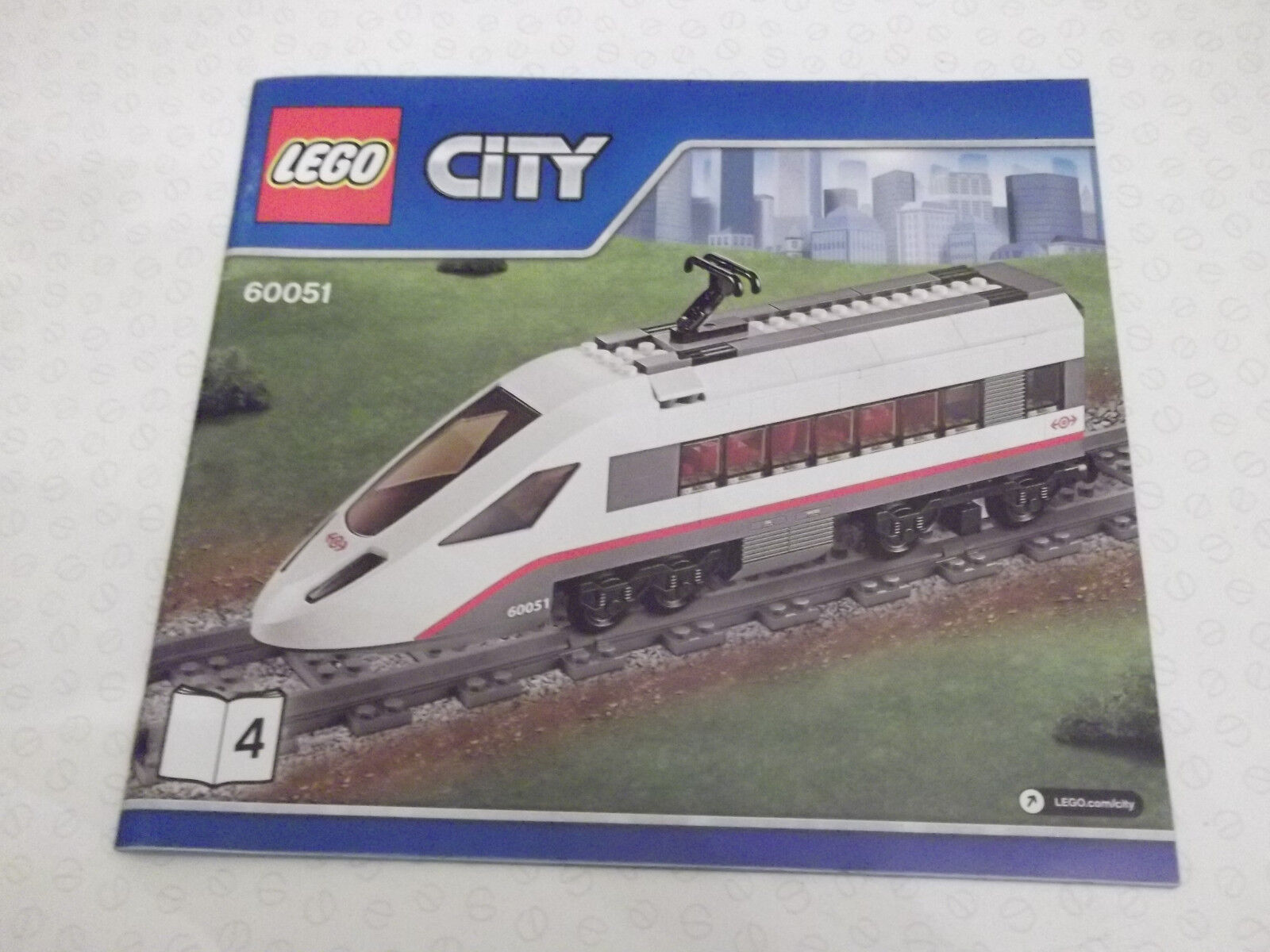 2 Lego City Locomotive 5-12 60051 new to add to layout with motor and controler