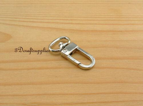 Lobster Clasps Clips Claw purse hooks Swivel snap hook silver 14 mm 10pcs P145