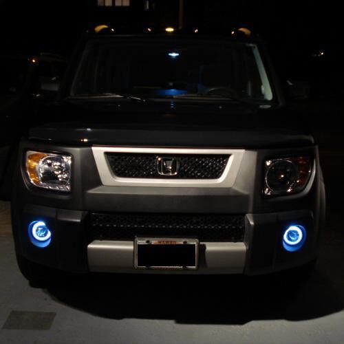White Angel Eye Bumper Fog Lamps Driving Lights Kit for Honda Element