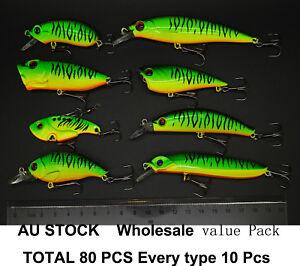 fishing lure bait kit luminous vib popper crank minnow pencil glow lures 1pc  X