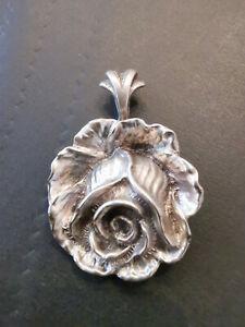 6 Kuchengabeln Hildesheimer Rose Albert Bodemer 835 Silber ALBO Top-115 Gramm