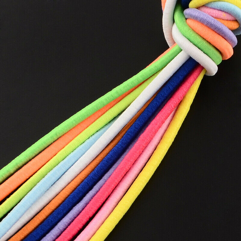 4 5 Mm Round Elastic Cord 10 Colors Available Sewing Crafts