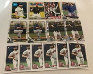 (x60 Lot) Logan Allen (RC) 2020 Topps #228/Bowman #35 Cleveland Indians Rookie