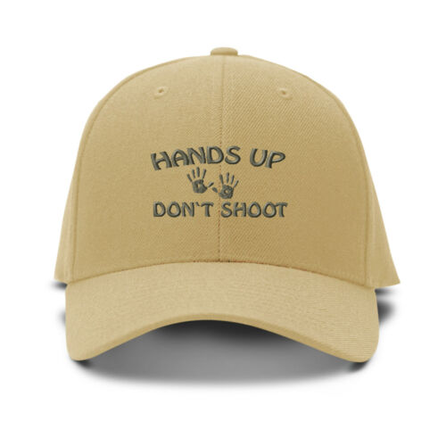 Hands Up Don/'T Shoot Embroidery Embroidered Adjustable Hat Baseball Cap