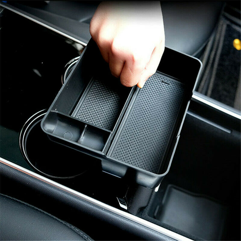 Details about For Tesla Model 3 Car inner Accessories black Center Console  Organizer one piece