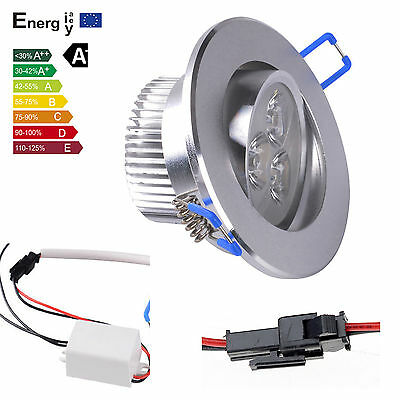 COOL white 9W LED 3X3W Recessed Ceiling Light Cabinet Downlight Spot Lamp Bulb