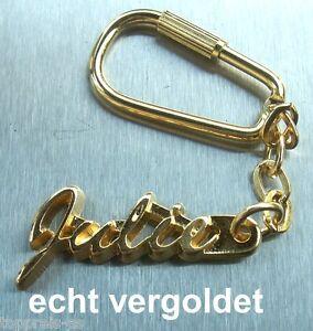 Schlüsselanhänger Edler SchlÜsselanhÄnger Julie Vergoldet Gold Name Keychain Weihnachtsgeschenk
