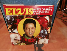 """elvis presley""""blue christmas""""single7""""1977-rca:447.0347.usa.vinyl couleur rouge"""