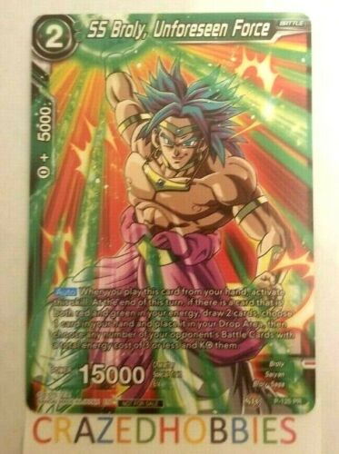 Dragon Ball Super Card Game SS Broly Unforeseen Force Promo P-125 M//NM FAST SHIP