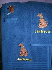 Scooby Doo Personalized 3 Piece Bath & Hand Towel Set  Any Color  Your Choice