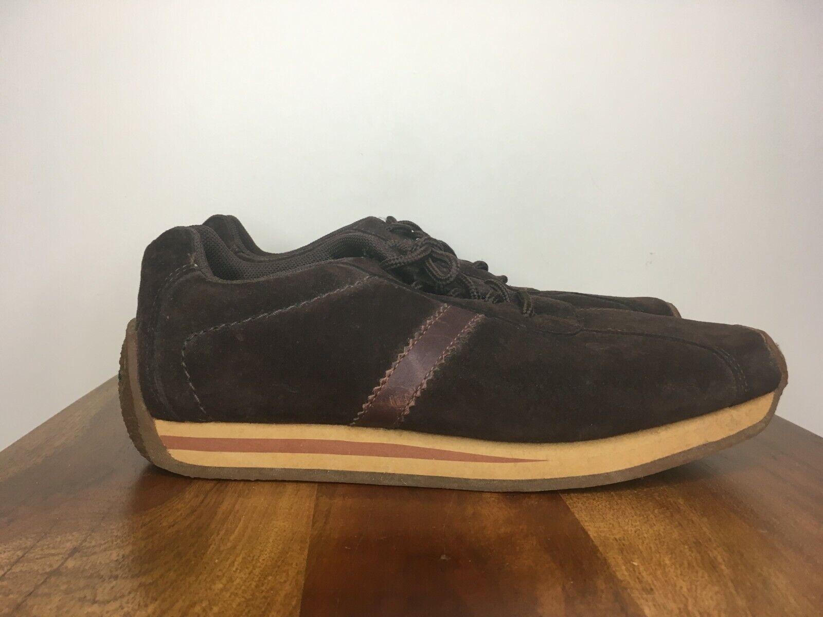 BEN SHERMAN 'Turkie' Vintage Casual Sneakers shoes Brown Gum Sole 90s 8