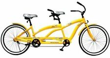 "Kulana Lua 26"" Tandem Comfort Cruiser Bike Bicycle Steel Hi-ten frame Yellow"