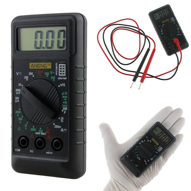 Digital Mini Pocket LCD Multimeter Volt AC DC Ohm Meter Tester with Buzzer US