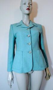 Wool Blue taglia Aqua Maxmara Jacket 10 8nYpaqRwx4
