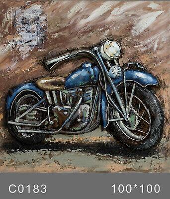 3D Wall Art, Motorcycle,Oil Painting Harley Davidson Bike