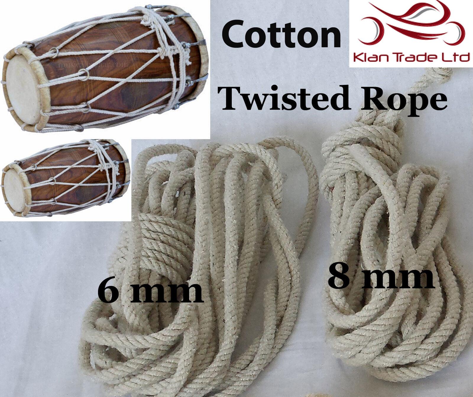100% coton CORDON CORDE tension pour Dholak dhol Tambour dholki dhol Dholak Bhangra Bhajan d70c70