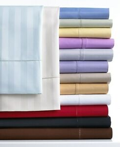 Comfort 4 PCs Sheet Set Ultra Deep Pocket 1200TC Striped Colors US Cal King Size