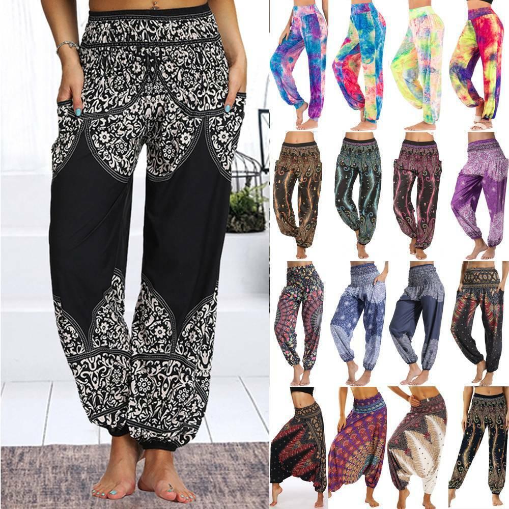 Women Alibaba Baggy Hareem Leggings Harem Trousers Gypsy Hippie Boho Yoga Pants
