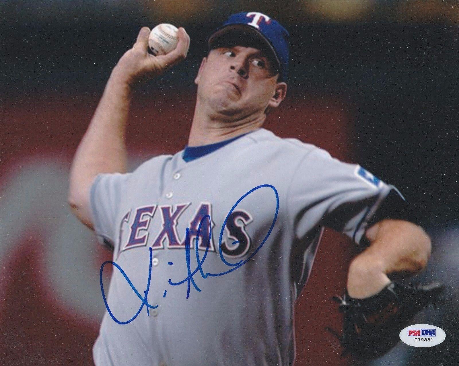 Kevin Millwood Signed Texas Rangers Baseball 8x10 Photo PSA I79881