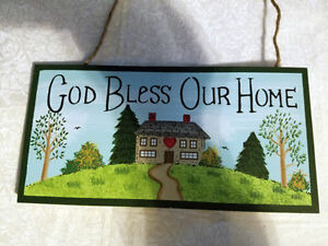 Details About God Bless Our Home Wood Wall Sign Wall Decor