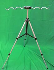 6 Rod Holder Adjustable Tripod Stand. Rack Fishing Pole Fish Camping RV Travel S