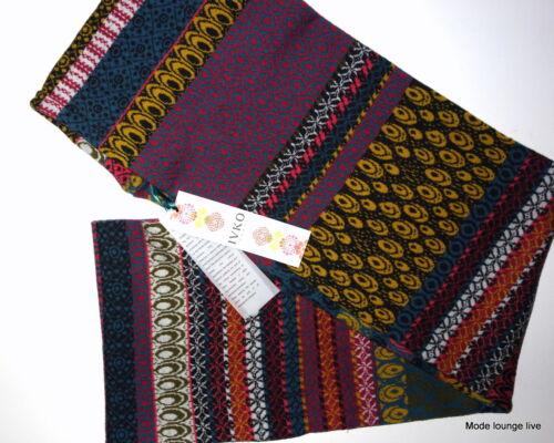 IVKO Loop Lammwolle Schal James Dean scarf Pattern braun marine grau anthracit