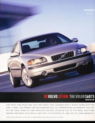 2002 Volvo S60 T5 Classic Advertisement Ad A39-B revolution