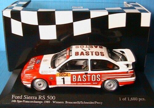 FORD SIERRA RS500  1 WINNER 24 HOUR SPA 1989 PERCY 1 43 MINICHAMPS 430898001