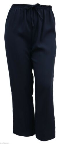 LICK * NUOVA linea donna Taglia 12 a 28 Comfort Fit Navy Pantaloni Elastico in Vita DONNA