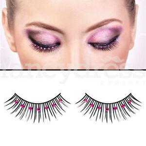 d93299c5a0d Baci Eyelashes Black Pink Gems Fancy Dress Evening New Years False ...